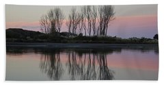 Whakatane River At Sunset Bath Towel by Venetia Featherstone-Witty