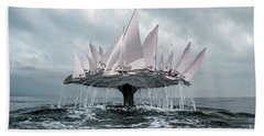 Whale Bath Towel by Evgeniy Lankin