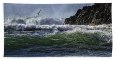 Whales Head Beach Southern Oregon Coast Hand Towel by Diane Schuster