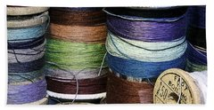 Spools Of Thread Bath Towel by Jean OKeeffe Macro Abundance Art