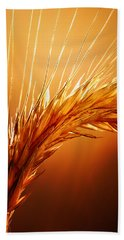 Wheat Close-up Bath Towel