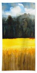 Wheat Field 1 Bath Towel by Carlin Blahnik