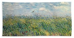 Wheatfield With Lark Hand Towel