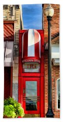 Wheaton Little Popcorn Shop Panorama Hand Towel by Christopher Arndt