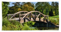 Wheaton Northside Park Bridge Hand Towel by Christopher Arndt