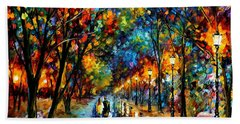 When Dreams Come True - Palette Knlfe Landscape Park Oil Painting On Canvas By Leonid Afremov Hand Towel