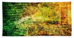 Hand Towel featuring the mixed media When Past And Present Intersect #1 by Sandy MacGowan