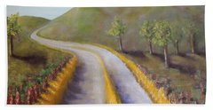 Autumn Road Hand Towel by Laurie Morgan
