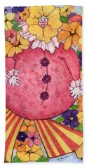 Bath Towel featuring the painting Whimsy On Parade  by Barbara Jewell