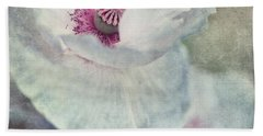 White And Pink Hand Towel