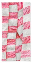 White And Pink Stripes Bath Towel