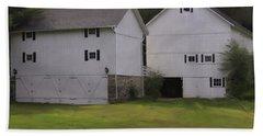 White Barns Bath Towel by Fran Gallogly