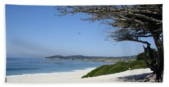White Beach At Carmel Hand Towel by Christiane Schulze Art And Photography