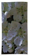 White Blooms Hand Towel