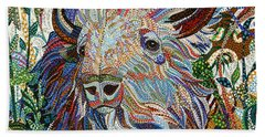 White Buffalo Hand Towel