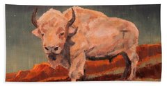 White Buffalo Nocturne Hand Towel