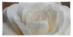 White Camellia Hand Towel