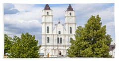 White Church Hand Towel