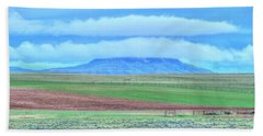White Clouds Blue Mesa I Bath Towel by Lanita Williams
