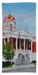 White County Courthouse - Veteran's Memorial Bath Towel