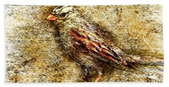 White Crowned Sparrow Hand Towel