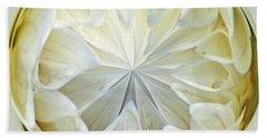 White Dahlia Orb Hand Towel