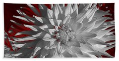 Bath Towel featuring the digital art White Dahlia by Richard Farrington