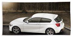 White Hatchback Car Bath Towel