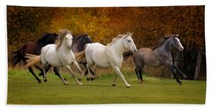 White Horse Vale Lipizzans Bath Towel