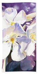 White Oleander Bath Towel