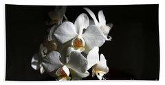 White Orchids Bath Towel
