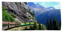 White Pass And Yukon Route Railway In Canada Hand Towel