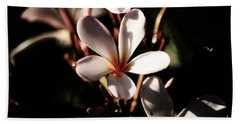 White Plumeria Bath Towel by Angela DeFrias