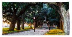 White Point Garden Walkway Charleston Sc Hand Towel