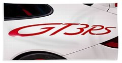 White Porsche Gt3rs - Rear Quarter Bath Towel