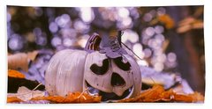 Hand Towel featuring the photograph White Pumpkin by Aaron Aldrich