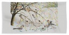 White Rabbits Bath Towel