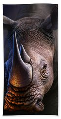 White Rhino Hand Towel