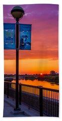 White River Sunset Hand Towel