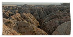 White River Valley Overlook Badlands National Park Bath Towel