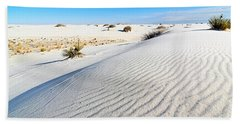 White Sands - Morning View White Sands National Monument In New Mexico. Hand Towel