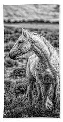White Stallion Watching Bath Towel