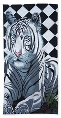 White Tiger Hand Towel