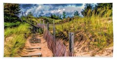Whitefish Dunes State Park Stairs Hand Towel