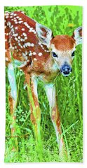 Whitetailed Deer Fawn Digital Image Bath Towel