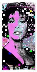 Whitney Houston Sing For Me Again 2 Hand Towel