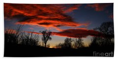 Hand Towel featuring the photograph Wicked Skies by Janice Westerberg