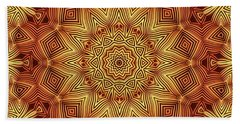 Wicker Pattern Mandala Hand Towel by Lyle Hatch
