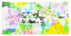 Wild About Flowers Bath Towel by Barbara Moignard