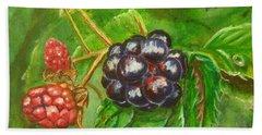Wild Blackberries Hand Towel
